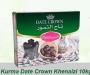 Kurma Date Crown Khenaizi, 1 Karton 10 kg (pack 1 kg)