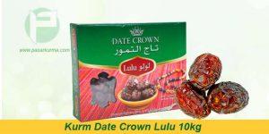 Grosir Kurma Date Crown lulu, 1 Dus 10kg (isi 10 pack @1kg)